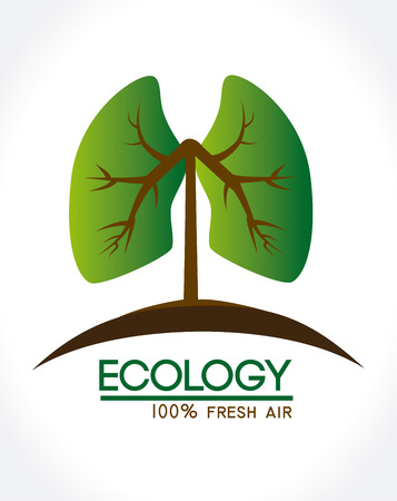 ecology design over white background vector illustration Vector