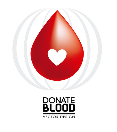 donate blood over white background vector illustration Ilustracja