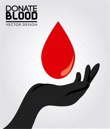 blood type: donate blood over gray background vector illustration Illustration