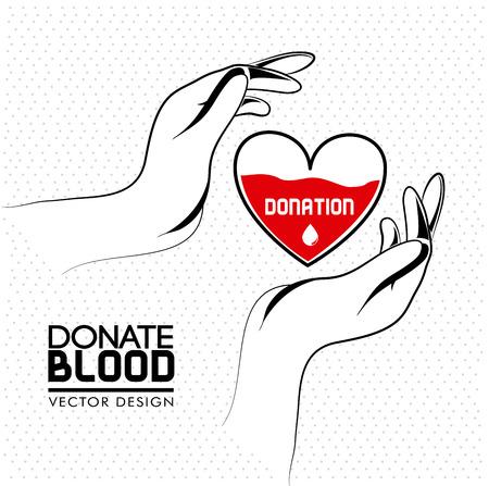 blood type: donar sangre sobre fondo blanco ilustraci�n vectorial