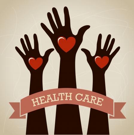 health care design over beige background vector illustration Stock Vector - 22334900