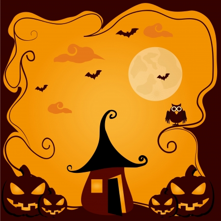 hallowen: halloween icons over purple background vector illustration Illustration
