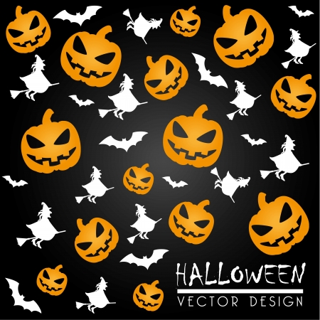 31: halloween icons over black background vector illustration Illustration