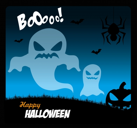 31: halloween icons over sky background vector illustration