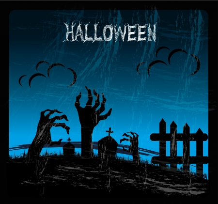 halloween icons over sky background vector illustration Stock Vector - 22335045