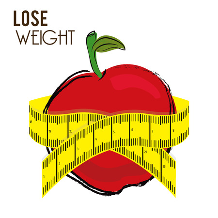 lose weight design over white background vector illustration Stock Vector - 22335044