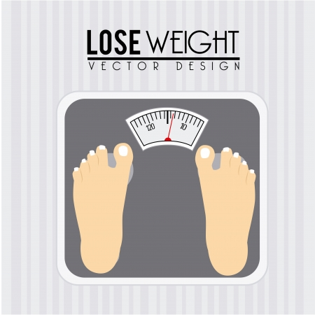 lose weight design over gray background vector illustration Stock Vector - 22335051