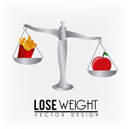 muscular control: lose weight design over lineal background vector illustration