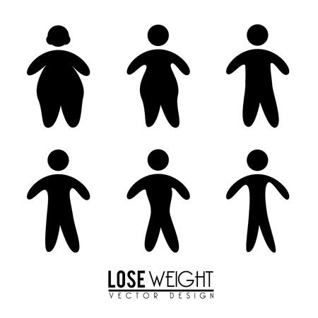 over weight: lose weight design over white background vector illustration