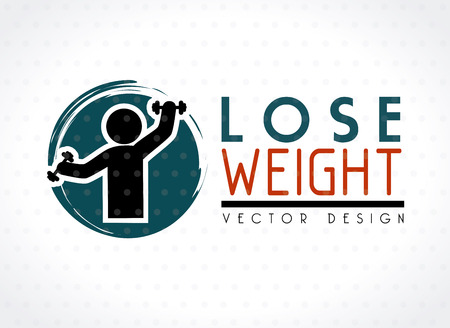 lose weight design over white background vector illustration Stock Vector - 22335050