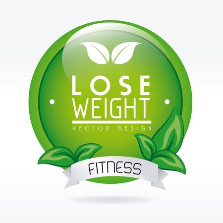 lose weight design over white background vector illustration Stock Vector - 22335052