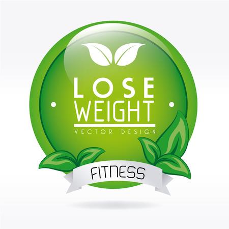 perdre conception de poids sur fond blanc illustration vectorielle