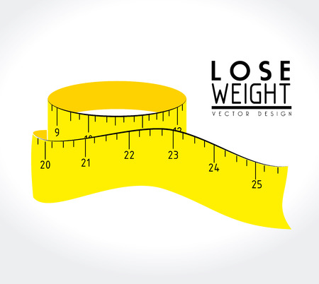 lose weight design over white background vector illustration Stock Vector - 22335054