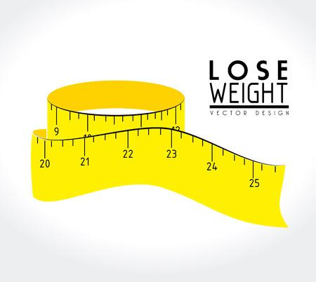 perder peso diseño sobre fondo blanco ilustración vectorial Ilustración de vector