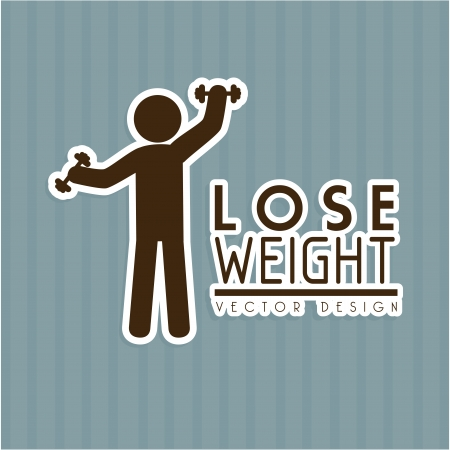 over weight: lose weight design over gray background vector illustration