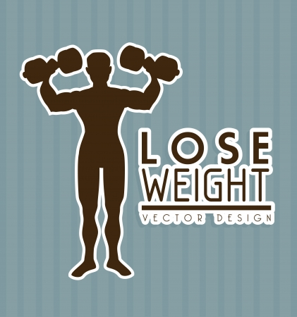 lose weight design over gray background vector illustration Stock Vector - 22335068