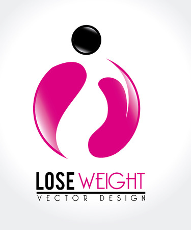 lose weight design over white background vector illustration Stock Vector - 22335070