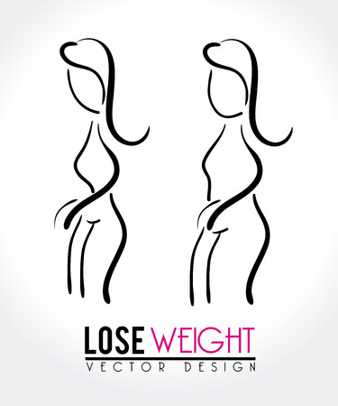 slimming: lose weight design over white background vector illustration