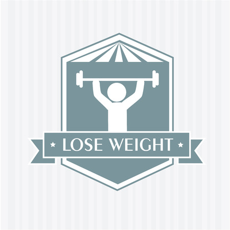 lose weight design over white background vector illustration Stock Vector - 22335069