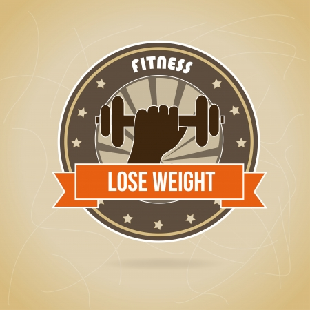 lose weight design over brown background vector illustration Stock Vector - 22335083