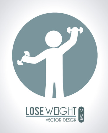 lose weight design over gray background vector illustration Stock Vector - 22335080