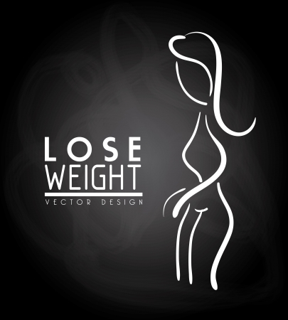 lose weight design over black background vector illustration Stock Vector - 22335081