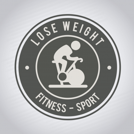 lose weight design over gray background vector illustration Stock Vector - 22335084