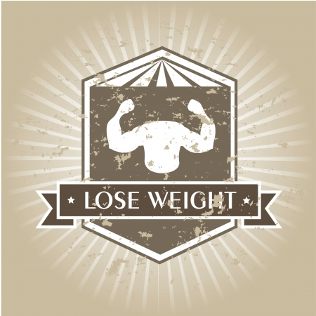 lose weight design over gray background vector illustration