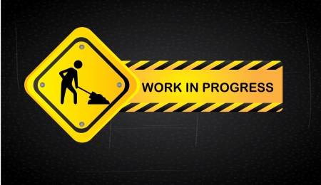 work in progress over black background  vector illustration Stock Vector - 22452772