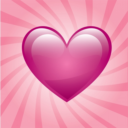 love heart over pink background vector illustration    Stock Vector - 22452785