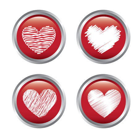 love hearts over white background vector illustration    Stock Vector - 22452786