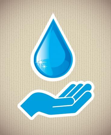 safe water: eco design over lineal background vector illustration  Illustration