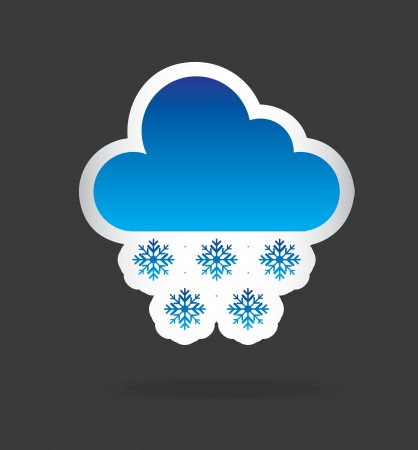 cloud design over black background vector illustration   Vector