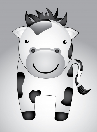 smyle: cow cartoon isolated over gray background. vector illustration