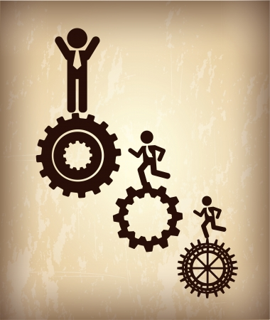 Human Resource: human resources over bronze background vector illustration
