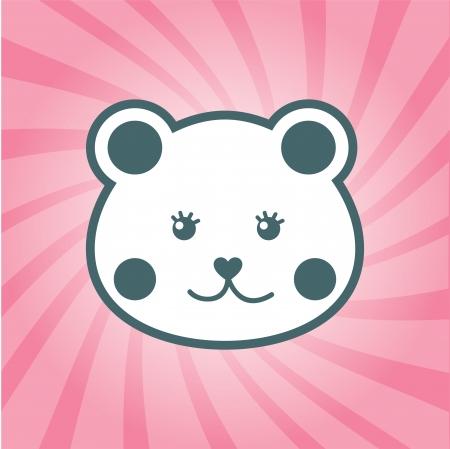 cat design over pink background  vector illustration Vector