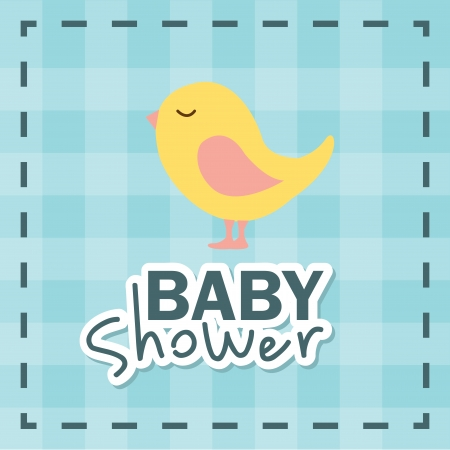 baby shower design over grid background vector illustration Vector