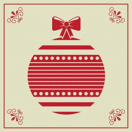Illustration of Christmas balls over beige background vector illustration   Vector