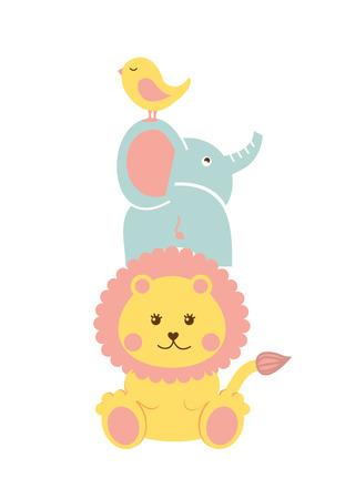 Diseño de la ducha del bebé sobre fondo blanco ilustración vectorial Foto de archivo - 22452912