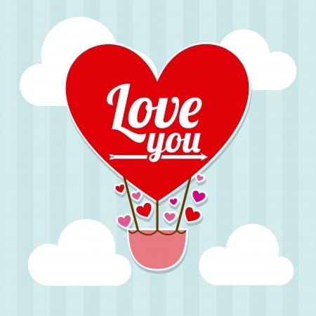 love design over sky background vector illustration   Vector