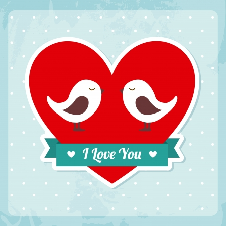 love design over dotted background vector illustration  Vector
