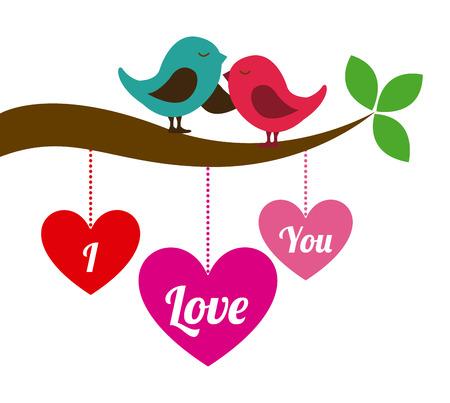 liebe: Liebe Design auf weißem Hintergrund Vektor-Illustration Illustration