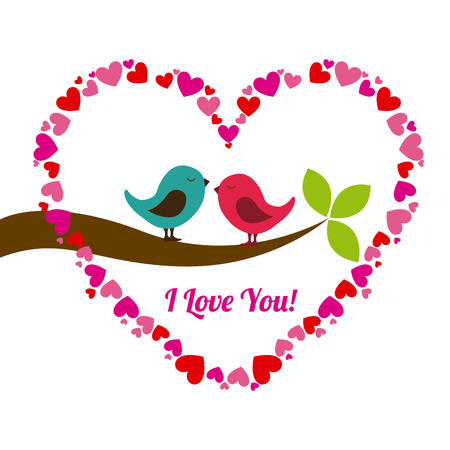 dia: día de San Valentín sobre fondo blanco ilustración vectorial