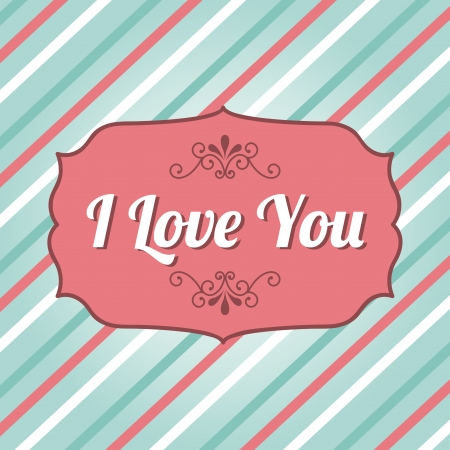 love design over lineal background vector illustration  Vector