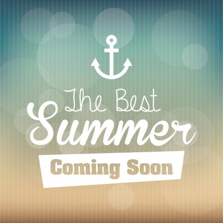 subtropical: summer design over pattern background vector illustration