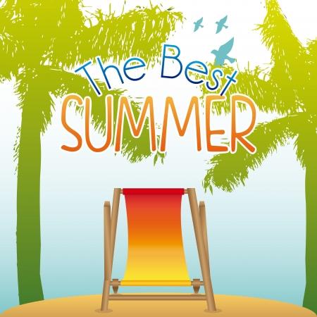 summer design over landscape background vector illustration Stock Vector - 22453049