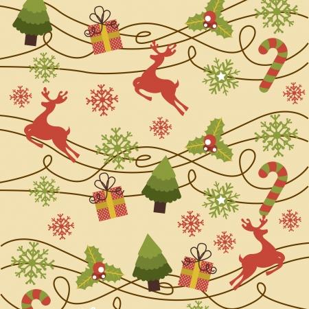 christmas design over pink background vector illustration Vector