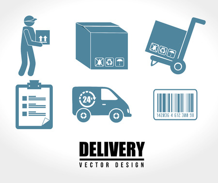 Delivery icons over white background vector illustration Vector