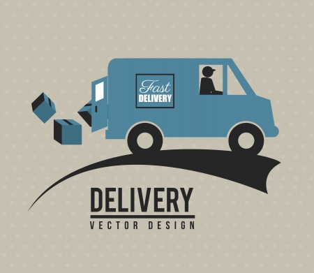 Fast delivery icon over beige background vector illustration Vector