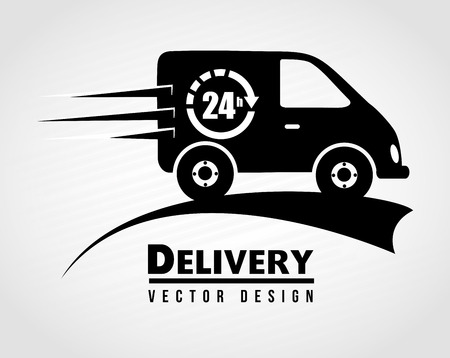 delivery truck: Free delivery icon over white  background vector illustration Illustration